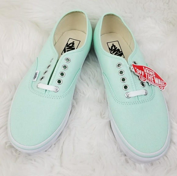 96002c7659 Vans Authentic Lace Up Shoes Bay Green True White
